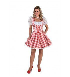 Bierfeest Dirndl Brabants Bont Vrouw Kostuum