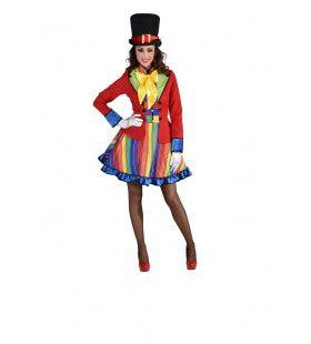 Dol Dwaas Regenboog Circus Vrouw Kostuum