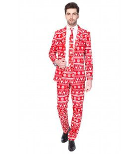 Rendier Christmas Red Nordic Opposuit Man Kostuum
