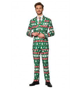 Christmas Green Nordic Kerstbal Man Kostuum