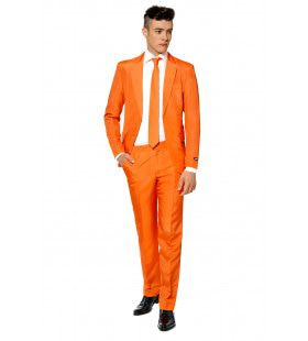 Heel Oranje Solid Orange Suitmeister Man Kostuum