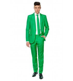 Gras Solid Green Suitmeister Man Kostuum