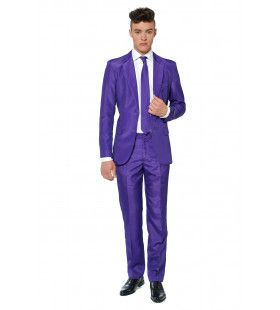 Prince Solid Purple Suitmeister Man Kostuum