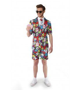 Zomer Casino Icons The Gambler Suitmeister Short Man Kostuum