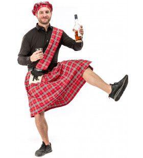Schotse Hooglander Highlander Stevie Mcdrunk Kilt Schotland Man Kostuum