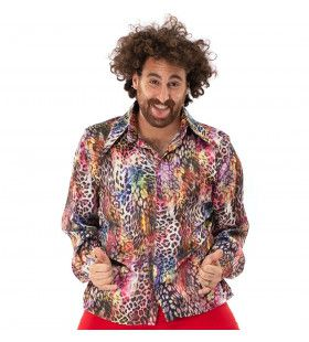 Multicolor Luipaard Shirt Foute Aso Pooier Man
