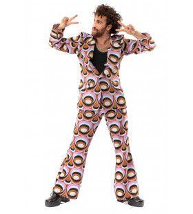 Jaren 70 Hippie Soul Disco 60s Psychedelische Ogen Man Kostuum