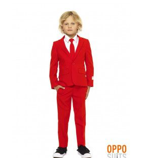Intense Red Devil Opposuit Jongen Kostuum