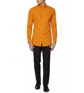 Oranje Overhemd Lange Mouwen Man