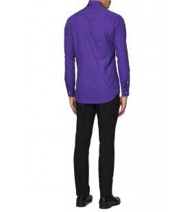 Paars Purple Prince Overhemd Lange Mouwen Man
