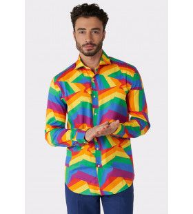 Over The Zig Zag Rainbow Festival Blouse Man