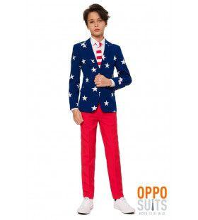 Stars & Stripes USA Tiener Jongen Kostuum