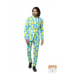 Tropisch Lange Zomer Ananas Man Kostuum