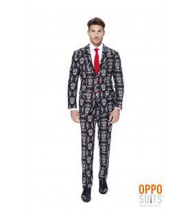 Dia De Los Muertos Haunting Hombre Opposuit Man Kostuum