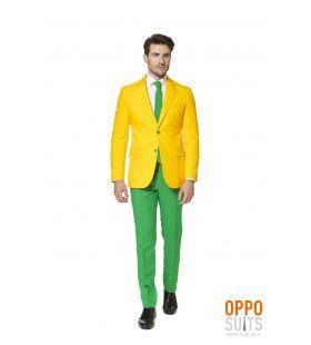 Flashy Green And Gold Opposuit Man Kostuum