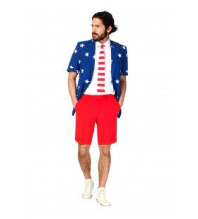 Summer Festival Extravagant Stars And Stripes Opposuit Kostuum Man