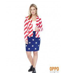 USA American Woman Opposuit Vrouw Kostuum