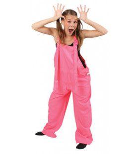 Funky Disco Tuinbroek Kids Neon Roze Kostuum