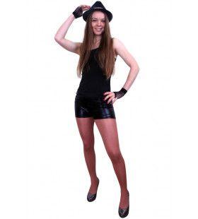 Hotpants Metallic Zwart Vrouw