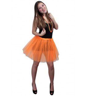 Tule Rokje Volwassenen Oranje Vrouw