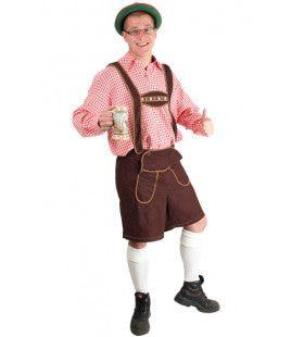 Heinrich Lederhose Donkerbruin Kort Man Kostuum