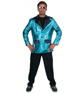 Disco Fever Smoking 2delig Turquoise Man Kostuum