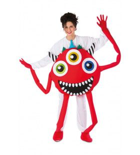 Maf Crazy Monster Rood Kostuum
