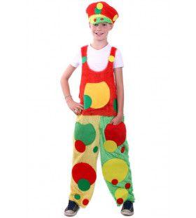 Tuinbroek Confetti Clown Kostuum