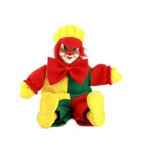 Clownspop Met Pet Rood Geel Groen