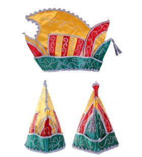 Luxe Prinsenmuts Rood Geel Groen Maat 63