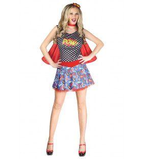 Roy Liechtenstein Strip Superheldin Vrouw Kostuum