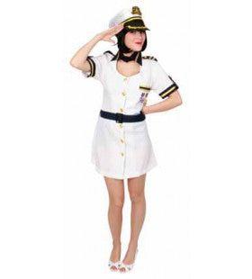 Kapitein Cruise Schip Middellandse Zee Vrouw Kostuum