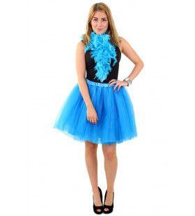 Tule Rok Uit Dansen Blauw Vrouw