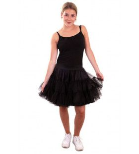 Rock And Roll Petticoat 3 Lagen Zwart Vrouw