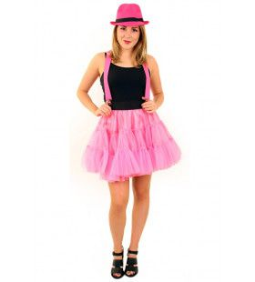 Rock And Roll Petticoat 3 Lagen Roze Vrouw