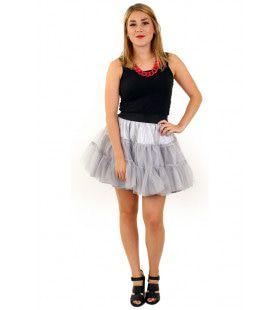 Rock And Roll Petticoat 3 Lagen Zilver Vrouw