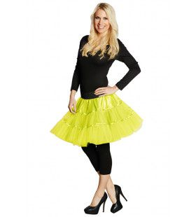 Petticoat Disco Neon Geel Vrouw