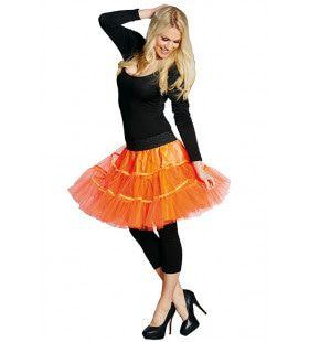 Petticoat Disco Neon Oranje Vrouw