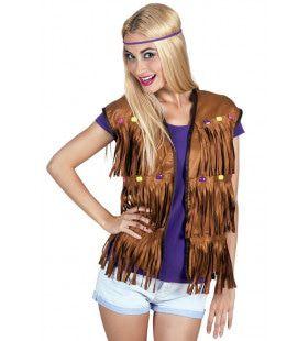 Vest Hippie Met Kralen Vrouw