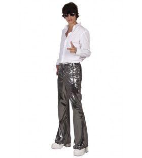 Glimmend Zilveren Discobroek Johnny Man