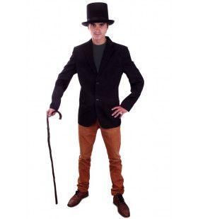 Chique Zwart Colbert Zondag Man