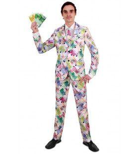 Bankdirecteur Speculant Euro Biljetten Man Kostuum