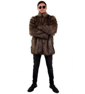 Eindeloze Siberische Winters Pool Bont Jas Bruin Man