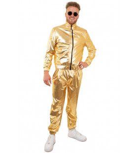 Gouden Metallic Trainingspak Proud To Be Goud Heren Man Kostuum