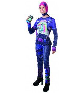 Brite Bomber Fortnite Video Game Vrouw Kostuum