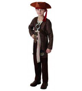 Jack Sparrow Pirates Of The Caribbean Luxe Piraat Kind Kostuum