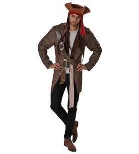 Jack Sparrow Pirates Of The Caribbean Kaperkapitein Man Kostuum