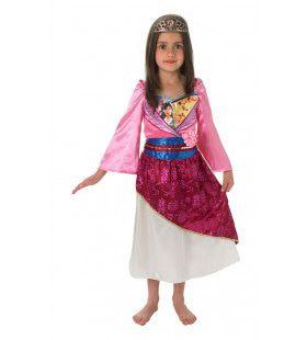 Glimmend Mulan Chinese Dappere Krijger Meisje Kostuum