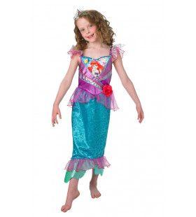 Glitter Prinses Ariel De Kleine Zeemeermin Tekenfilm Meisje Kostuum