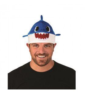 Blauwe Daddy Shark Muts Met Geluid